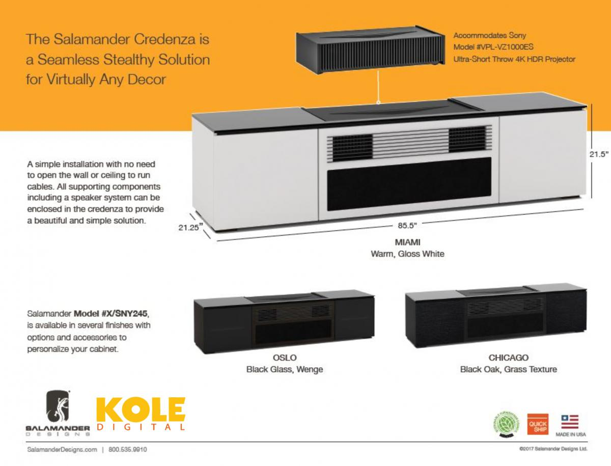 In Addition, All Supporting Components Including A Speaker System Can Be  Enclosed In The Cabinet To Provide A Turnkey Solution.