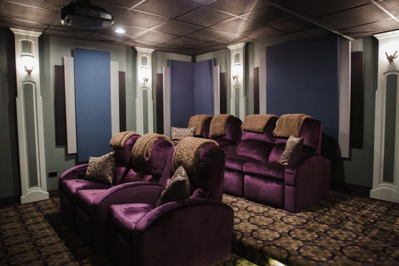 Regal Purple And Blue Home Theater By Kole Digital