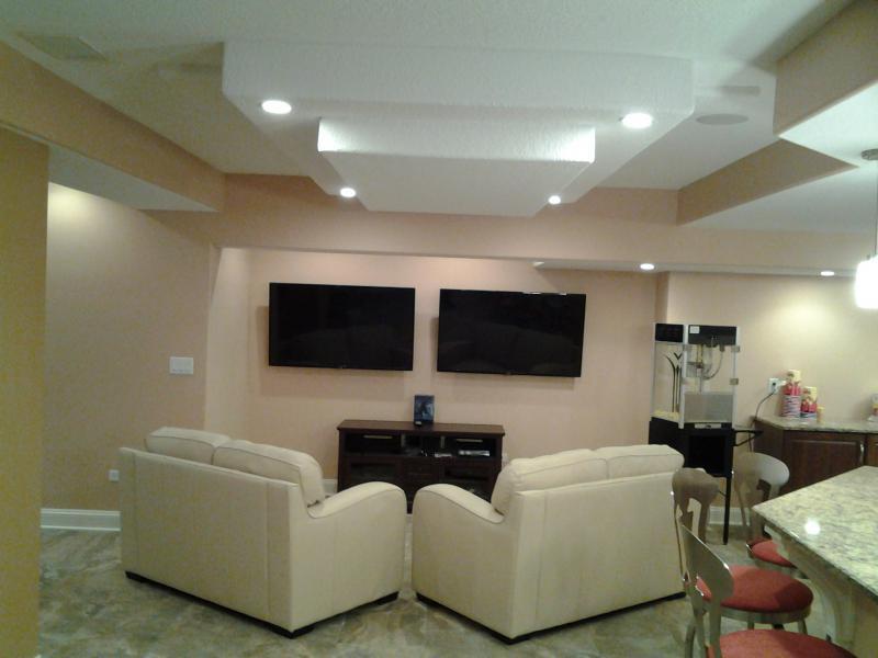 Media Room In Lower Level