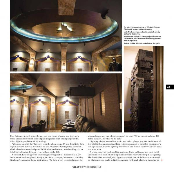 digital home design. Kole Digital Gotham City Home Theater Featured In Connected Design Magazine Themed Theaters