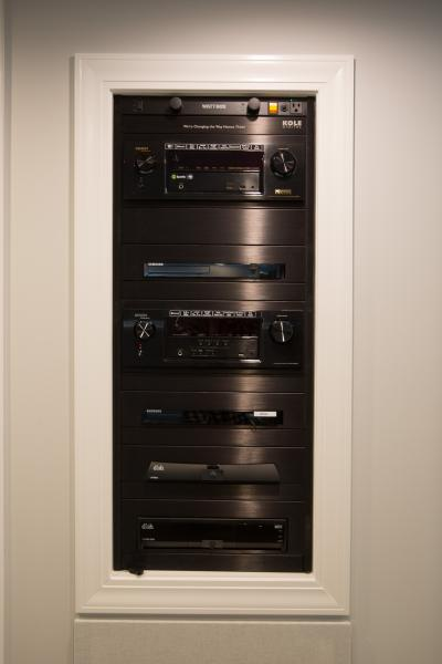 in wall av rack in basement & Custom audio u0026 video racks gallery | Kole Digital