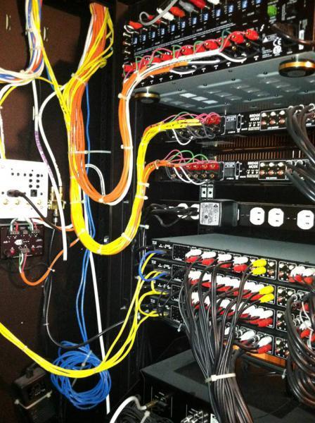 custom audio video racks gallery kole digital in wall av rack in basement