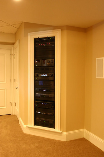In Wall Audio Video Rack