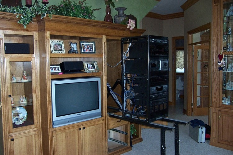 Slide Out Audio/video Rack In Cabinet ...