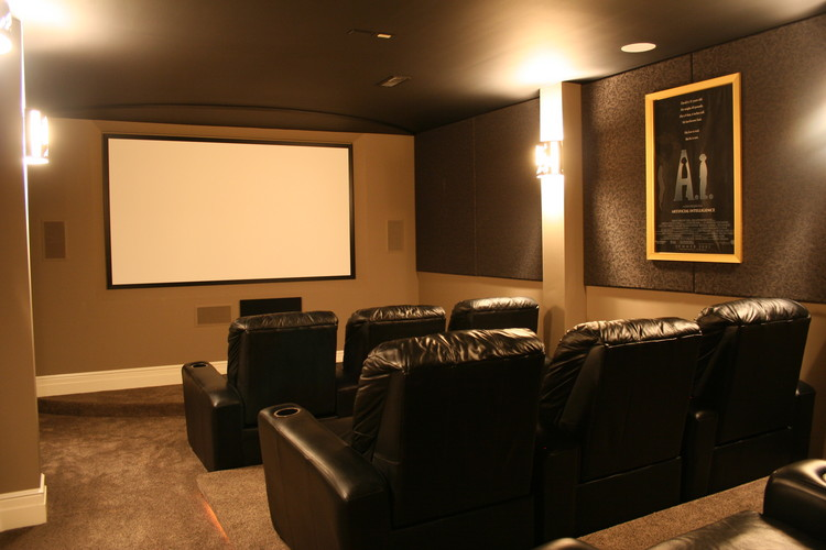 Contemporary home theaters kole digital for Custom home theater design