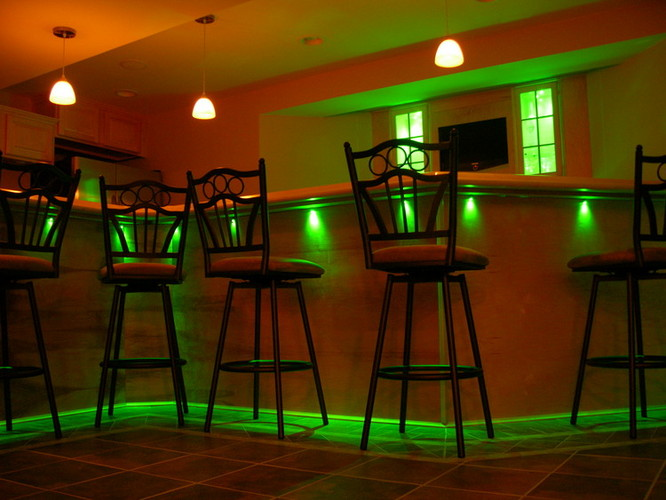 Bar With Fiber Optic Lighting