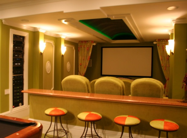 home theater design tropical paradise theater - Home Theater Design And Installation