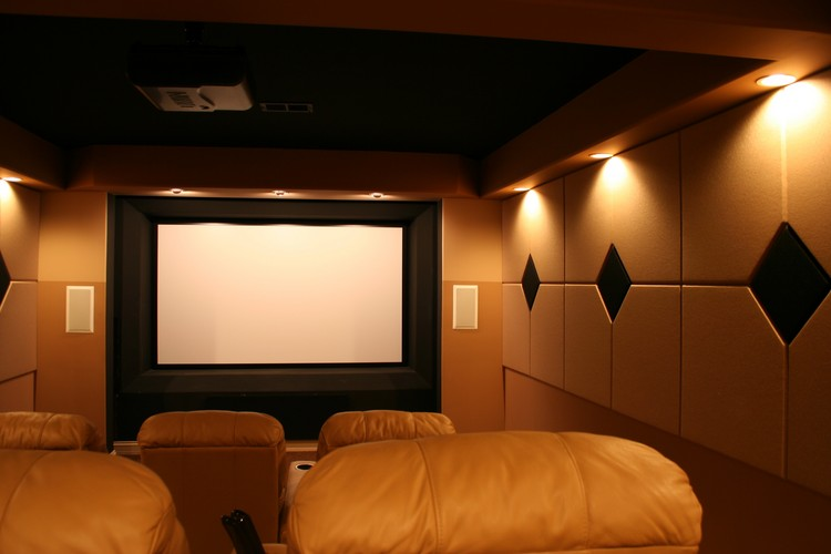 home theater acoustic design. home theater with acoustic panels Contemporary Home Theaters  Kole Digital