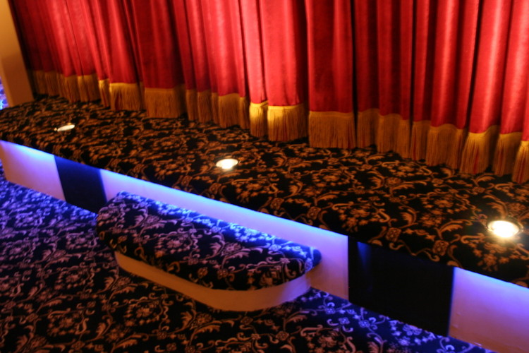 Custom Home Theater Floor Lighting