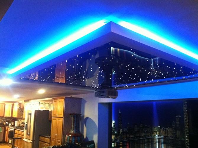 Custom Lighting On Media Room Ceiling