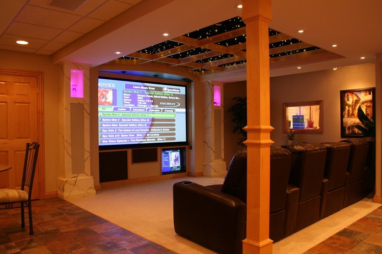 Basement Home Theater Open Concept